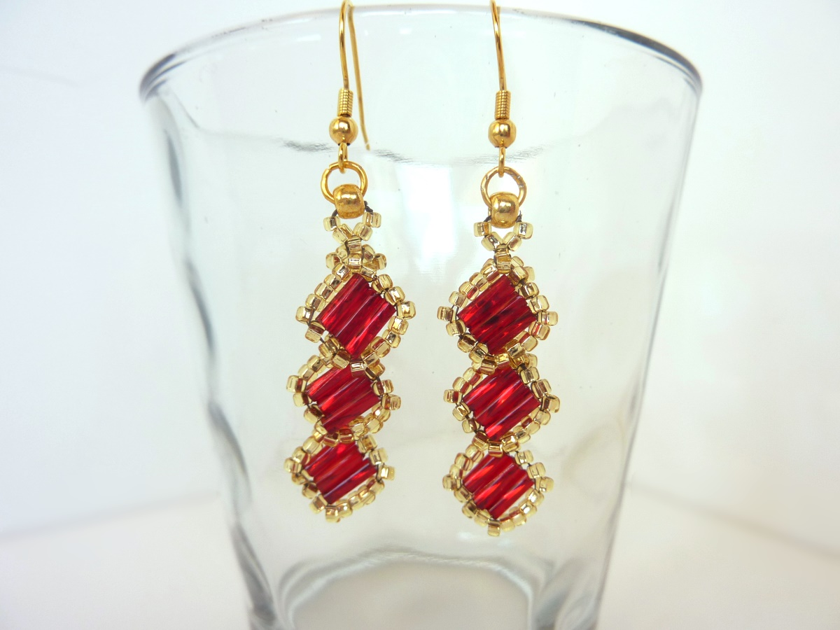 FREE beading pattern: Alexia Earrings