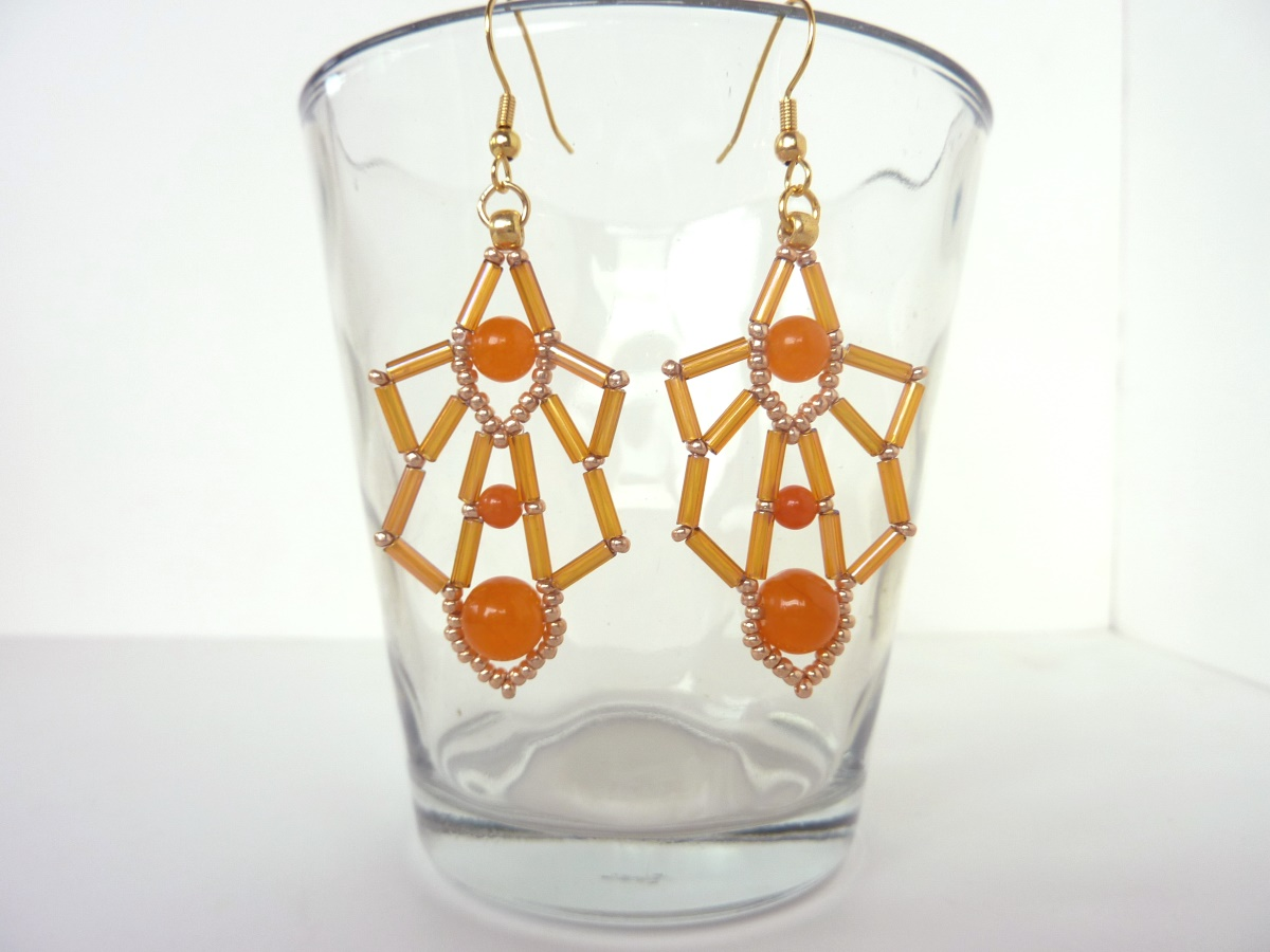 FREE beading pattern: Bugle Deco Earrings
