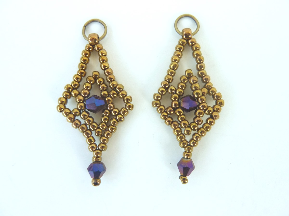 FREE beading pattern: Crystal Lace Earrings
