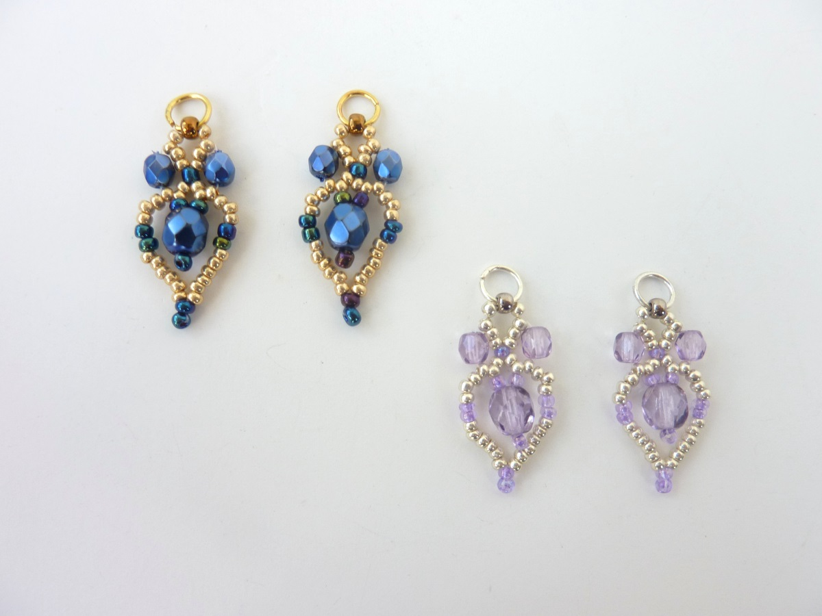 FREE beading pattern: Crystal Petal Earrings
