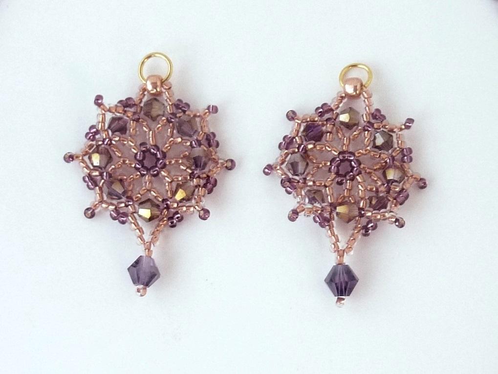 free beading pattern for crystal net earrings