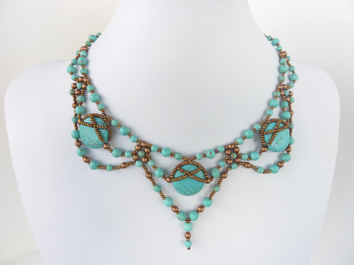 Free Beading Pattern For Necklace Stone Glam