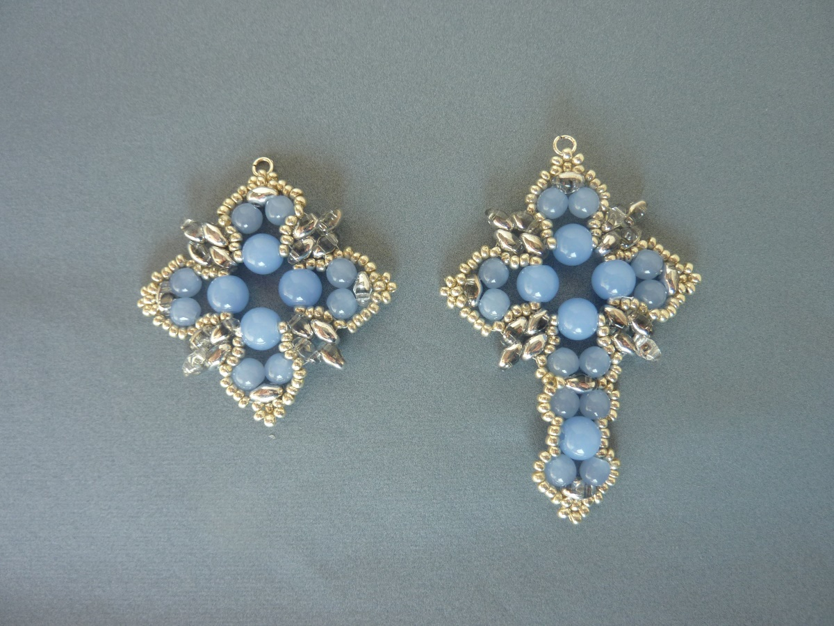 Free Beading Pattern For Tudor Cross Pendant