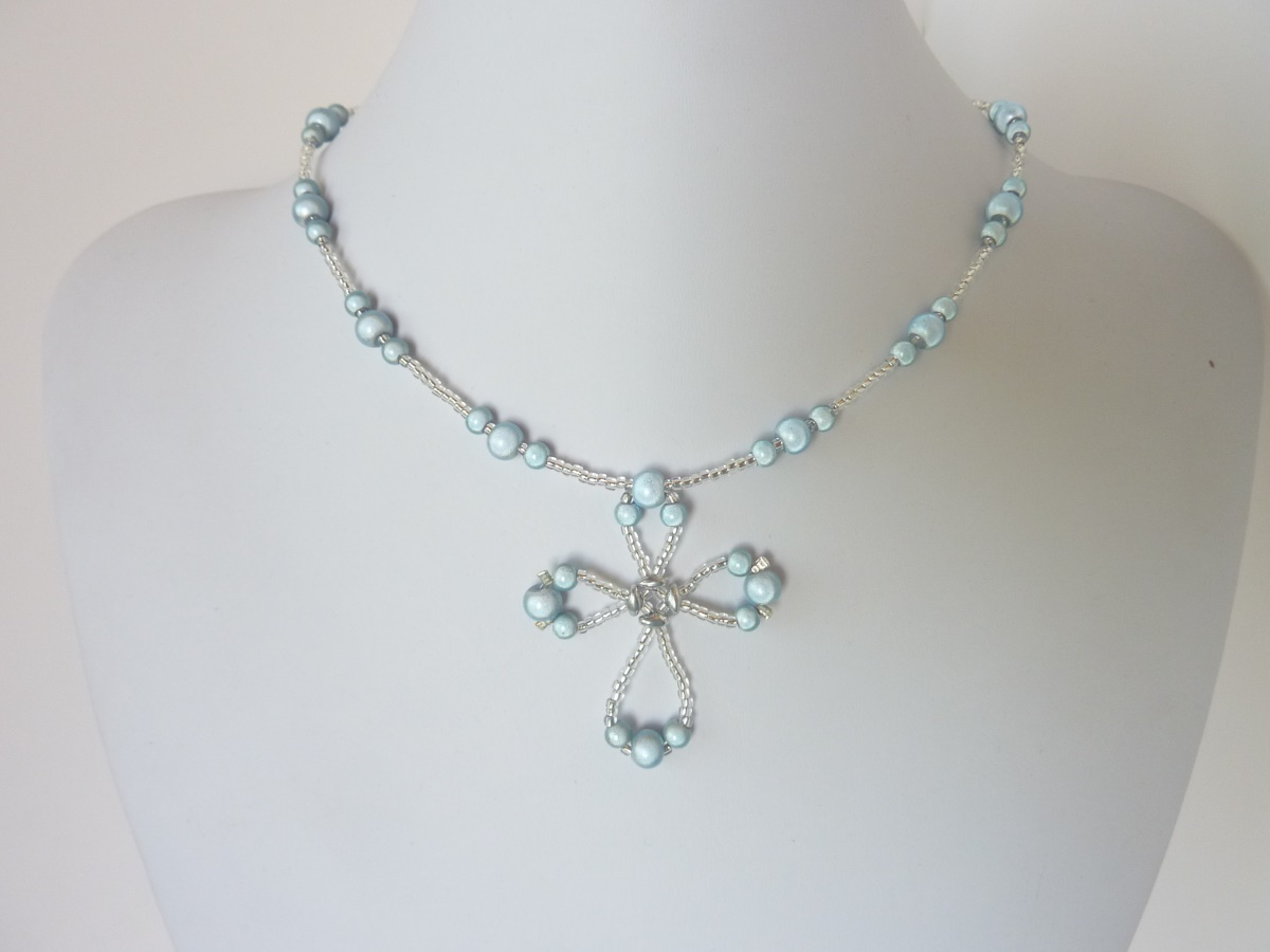 Free Beading Pattern For Wire Loop Cross